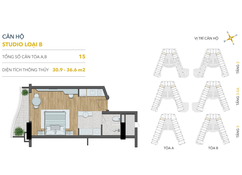 Mat bang can ho Studio Shantira Beach Resort & Spa Hoi An